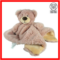 Kellytoy Teddy Bear Comforter Blankie Rattle Soother Brown Soft Toy Baby Plush