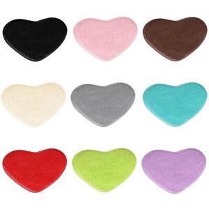 Heart Shaped Shaggy Rugs Faux Fur Fluffy Rug Hairy Carpet Floor Mat Home Decor