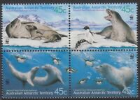 2001 AAT Australia Post - Design Set - MNH - Leopard Seals - SG152 > SG155
