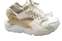 Nike Huarache Run SE GS Athletic Shoes Girls Size 4 Y Platinum White 904538-108