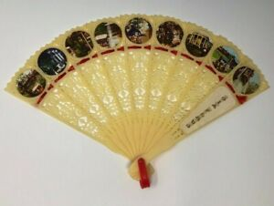 RARE Vintage 1970's SIX FLAGS Plastic Hand Fan Theme Park