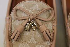 NIB $198 COACH Size 9 Women's Light Khaki SIG C Jacquard GREENWICH Driver Loafer
