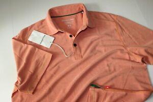 Tommy Bahama Polo Shirt Deco Tempo Citrus Sun Orange T220405 New Medium M