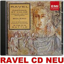 Ravel - Daphnis et Chloé - Boléro - Simon Rattle - DDD CD Neu