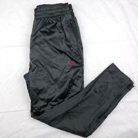 Nike Air Jordan AJ 5 Satin Track Pants Bred Black Red AR3137-010 Men's M-L