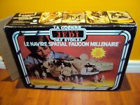STAR WARS ROTJ VINTAGE MILLENNIUM FALCON CANADIAN KENNER CANADA COMPLETE & BOX