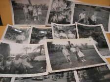 "12 5""x 3 1/2"" 4 OLD B&W PHOTO's 1953 & 1954 family & children photographs photos"