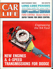 Car Life Magazine Septmeber 1963 Engineering The '64 Ford EX 060916jhe