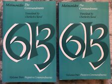 Maimonides : The Commandments (1967, PAPERBACK) Volumes I & II