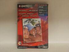 EMTEC PB240F PHOTO PAPER PRO GLOSSY BRILLAN  10X15  250G 50 FOGLI
