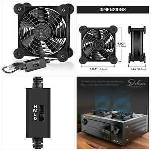 Simple Deluxe 92mm Quiet USB Fan with Multi-Speed Controller Rechargeable Compat