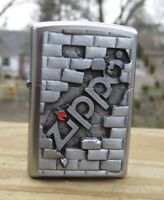 """ZIPPO """" THE WALL """" EMBLEM LIGHTER RARE NEW IN BOX NICE ADDITION"""