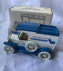 1913 Ford Model T Delivery Bank Atlas Van Lines Ertl 1:25 Diecast #3459