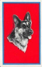 Dog Head German Shepherd Single Swap Playing Card Vintage Blank Back