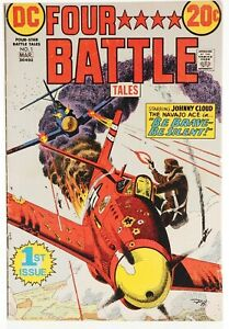 👀 1973 FOUR STAR BATTLE TALES #1 DC COMICS Be Brave Be Silent FN 👀🎉💎