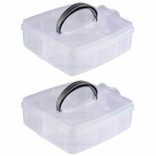 2-Pack Craft Organizer Box, Craft Storage Organizer Container, Plastic Organizer