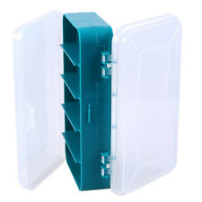 Double-Side Tool Box Transparent 13 Grids Plastic Screw Components Storage Case