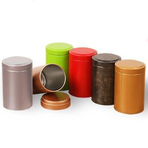Portable Metal Tinplate Tea Caddy Tea Coffee Sugar Jar Storage Box Container