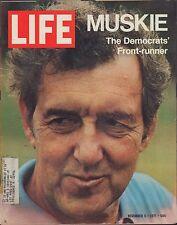 LIFE November 5,1971 Muskie / Cosmonauts' Family Album / Bullfighting / Kosygin