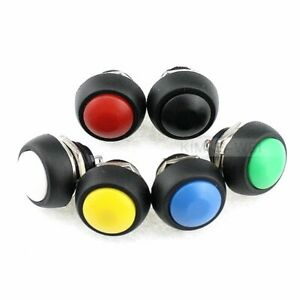 Momentary Drucktaster Taster Zurücksetzen Pushbutton Waterproof Schalter 12mm