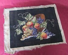 19C. Antique Original Hand Embroidered w/Cotton Threads Tapestry Gobelin