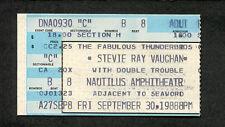 1988 Original Stevie Ray Vaughan Fabulous Thunderbirds Concert Ticket San Diego
