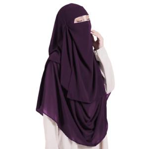 Zweiteiliges Set: Einlagiger Malaysian Niqab und Instant Hijab