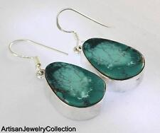 TURQUOISE EARRINGS 925 STERLING SILVER ARTISAN JEWELRY COLLECTION R742A