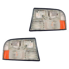 Fits 1998-2004 GMC Oldsmobile Driver + Passenger Headlight Lamp Assembly 1 Pair