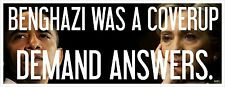 BENGHAZI COVERUP - ANTI OBAMA POLITICAL BUMPER STICKER #4241F