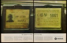 1963 New York City taxi cab hack license photo Chrysler ad