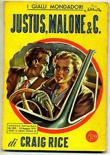 Craig Rice # JUSTUS, MALONE & C # Mondadori 1951