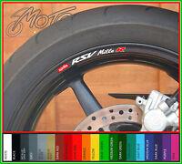 8 x Aprilia RSV Mille R Wheel Rim Decals Stickers - millie