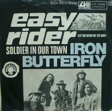 """7"""" 1970 RARE !!! IRON BUTTERFLY : Easy Rider / VG-/VG"""