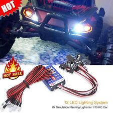 12 LED Lighting System Kit Simulation Flashing Lights for 1/10 RC Car/Truck#^