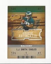 2003 Fleer Authentix Balcony #128 L.J. Smith Rookie Eagles /250
