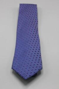 "CHARVET Silk Tie. Blue with Pink Geometric. 60"" x 3.625"""