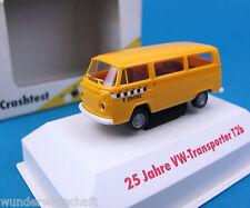 Brekina h0 VW t2 B bus crash-test 1972 colección 25 años ho 1:87 box matrícula