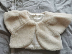 Girls Monsoon Girls Faux Fur Shrug Size 5-6