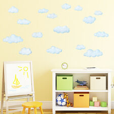 DECOWALL nuages blancs Sky Nursery Kids amovible Wall Stickers Decal DW-1702