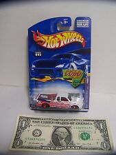 Hot Wheels White Chevy Pro Stock Pickup Truck #095 Baby Ruth - Candy - 2002