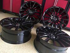 MERCEDES 22 INCH GLOSS BLACK MULTI SPOKE S63 RIMS NEW SET 4 FITS S400 S550 AMG