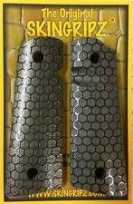 """1911 Grips - """"HORNETS"""" Full Size Magwell 1911 (Gloss Black) Original SkinGripz !"""