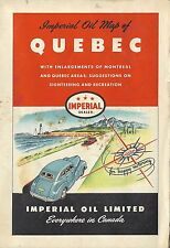 1948 IMPERIAL OIL LIMITED Road Map QUEBEC Montreal Canada Gaspe Peninsula Hull