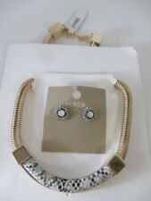 Banana Republic Grey Snake Necklace NWT 79.95 J.Crew Stud Earrings $19.99
