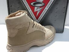 "NEW! OAKLEY SI ASSAULT Boots 6"" SZ 13.5 Desert Tan Boot USA MADE 11094-889A"