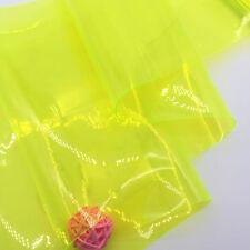 Coloured Clear Transparent PVC Plastic Vinyl Film Fabric Bags Crafts Material