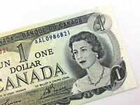 1973 Canada 1 One Dollar Circulated AAL Prefix Lawson Bouey Banknote R755
