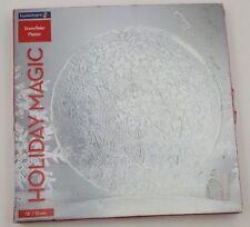 "Luminary Snowflake Platter 13"" Dish Plate Glass Holiday Christmas"