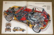 Renault 5 Turbo Rallye - Schnittzeichnung Röntgenbild 1981 - cutaway view